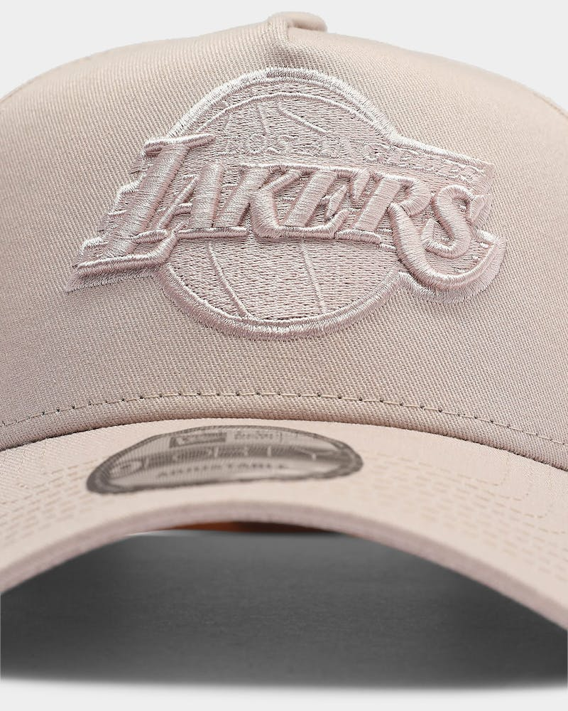 New Era Los Angeles Lakers Tonal 9FORTY A-Frame Snapback Stone Rose