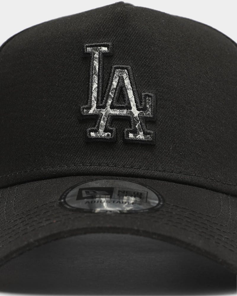 New Era Los Angeles Dodgers Snakeskin Logo 9FORTY K-Frame Snapback Black