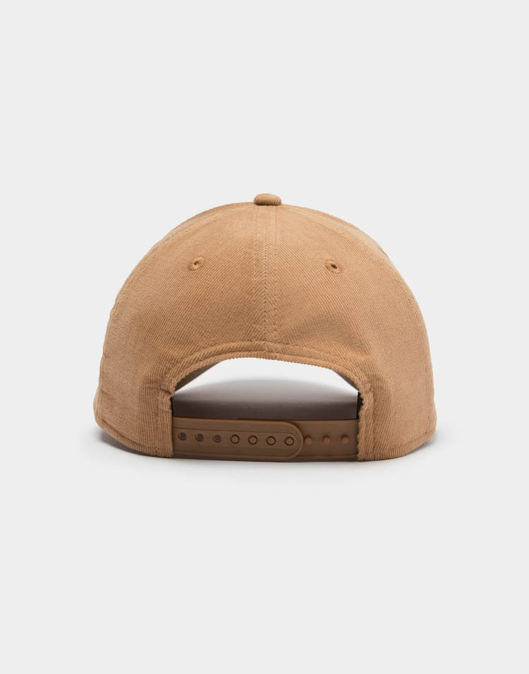 New Era Men's Raiders Cord 9FORTY A-Frame Snapback Wheat/White