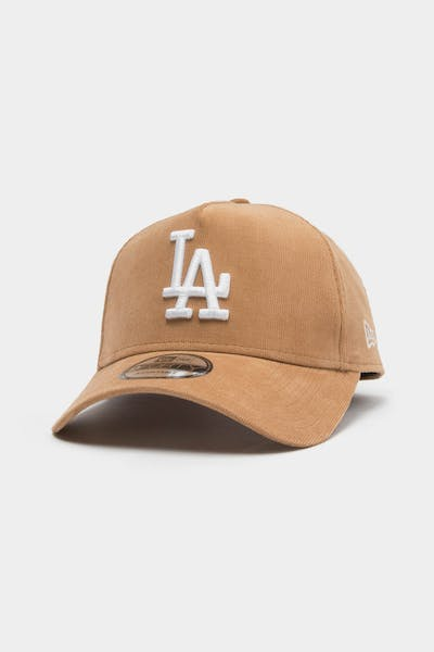 New Era Men's Los Angeles Dodgers Cord 9FORTY A-Frame Snapback Wheat/White