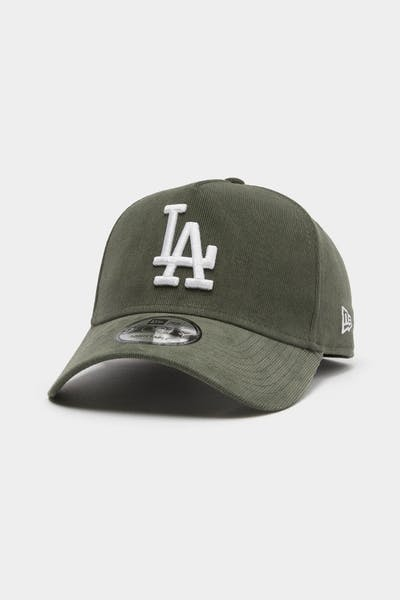 New Era Men's Los Angeles Dodgers Cord 9FORTY A-Frame Snapback Forest Green