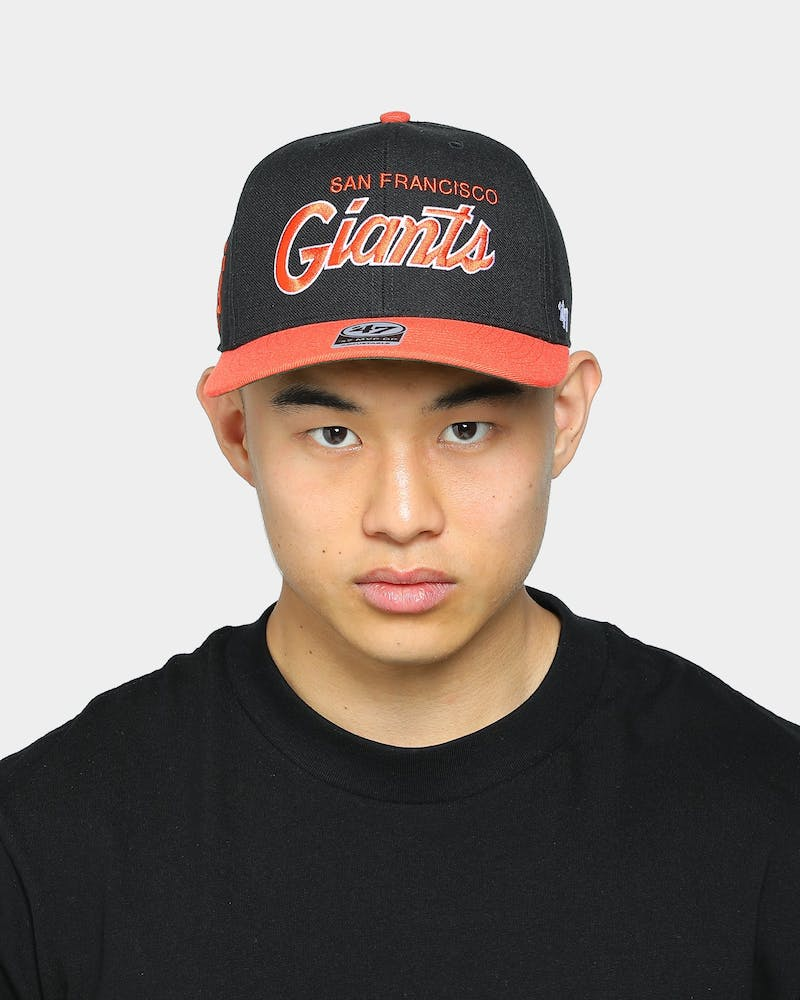47 Brand Men's San Francisco Giants Script MVP DP Snapback Black/Orange