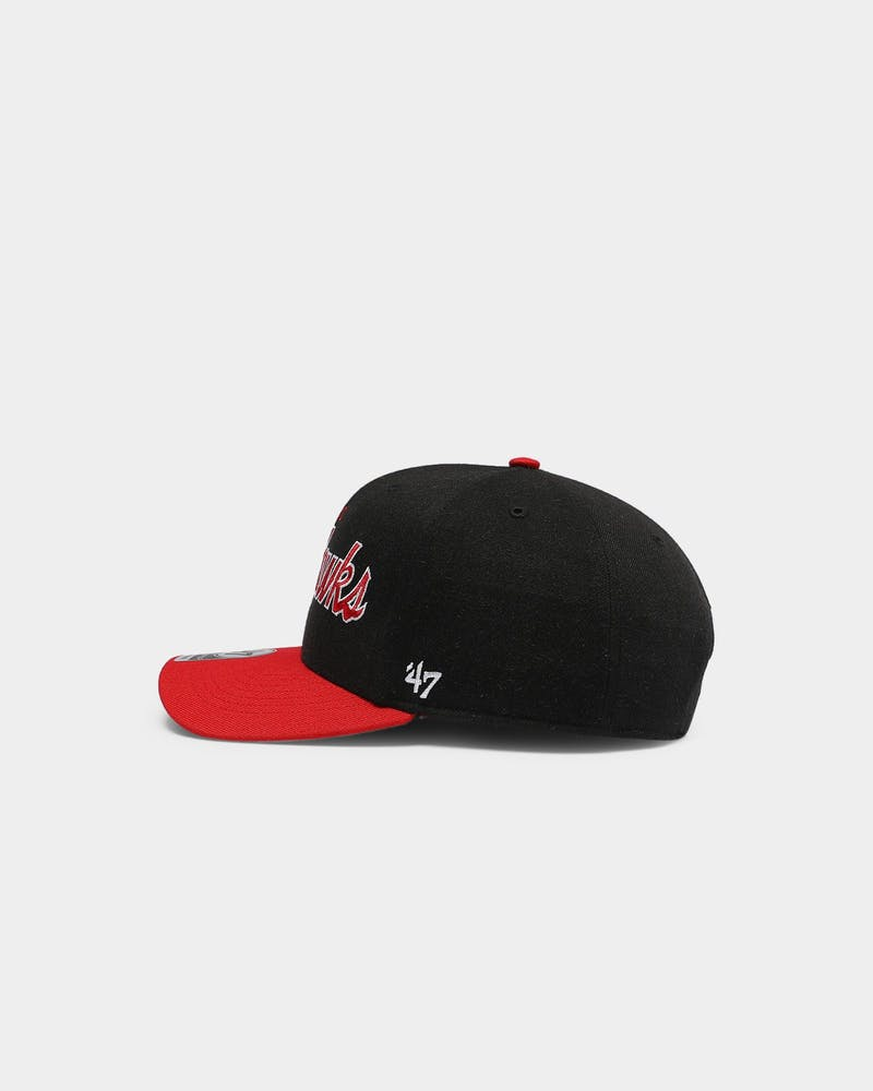 47 Brand Men's Chicago Blackhawks Script MVP DP Snapback Black/Red
