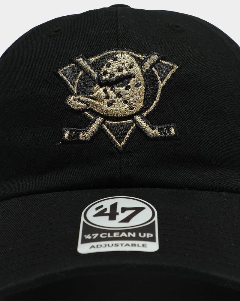 47 Brand Anaheim Ducks Clean Up Strapback Black/Gold