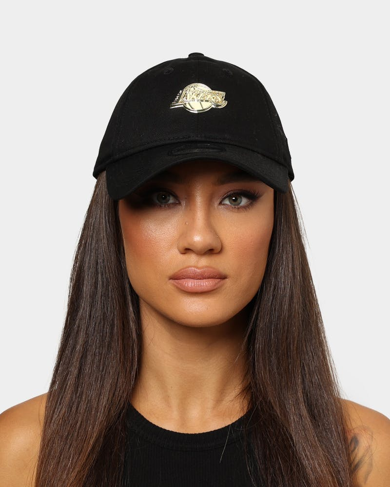 New Era Los Angeles Lakers Mini Metal 9TWENTY Strapback Black/Gold