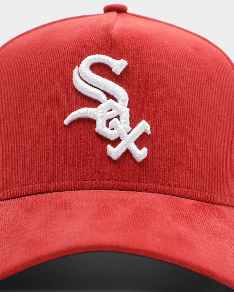 New Era Chicago White Sox Corduroy 9FORTY A-Frame Snapback Light Maroon