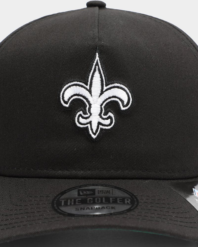 New Era Men's New Orleans Saints Old Golfer Snapback Black/White