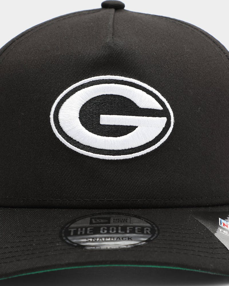 New Era Men's Green Bay Packers Old Golfer Snapback Black/White