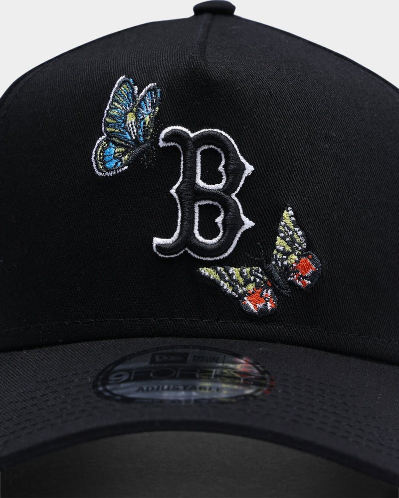 "New Era Boston Red Sox ""Butterfly Logo"" 9FORTY A-Frame Snapback Black"