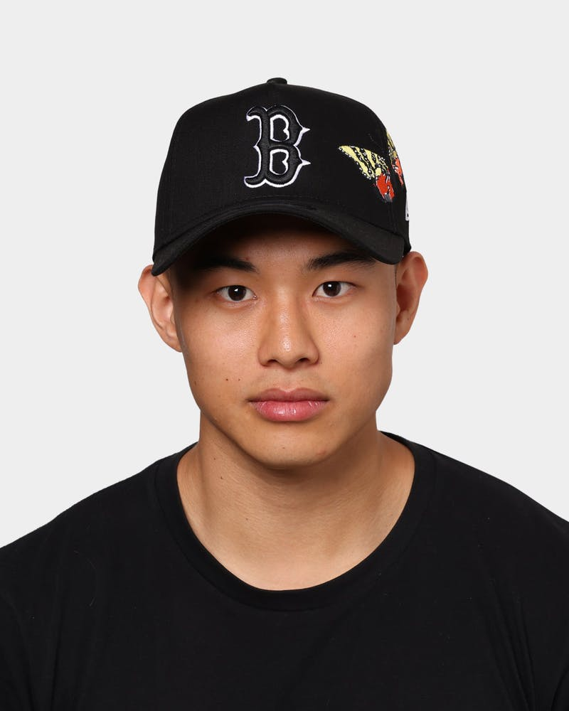 "New Era Boston Red Sox ""Butterfly Accent"" 9FORTY A-Frame Snapback Black"