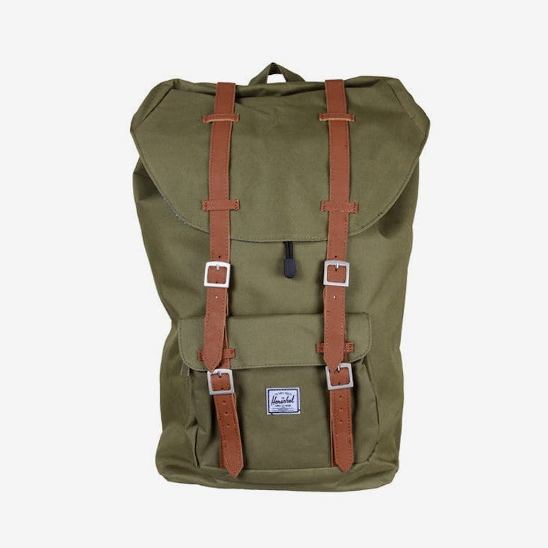 Little America Backpack Army Green/brow