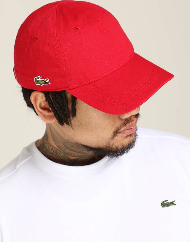 108b9ce01 Lacoste Basic Side Croc Cap Red – Culture Kings