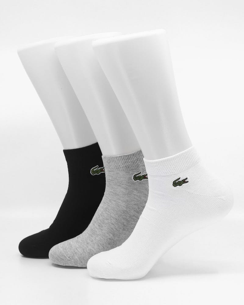 Lacoste 3 Pack Ankle Socks Multi-Coloured