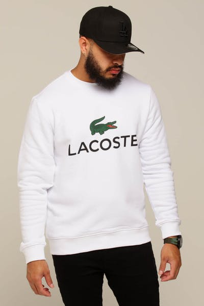Lacoste Crew Neck Logo Sweat White