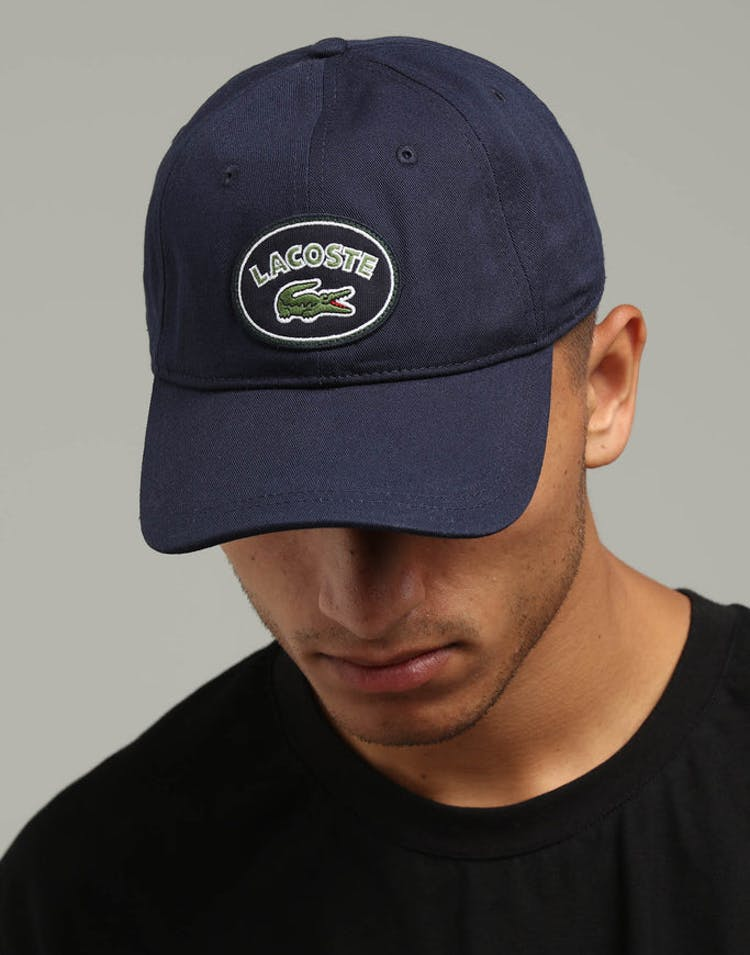 96a862f887c Lacoste Badge Logo Cap Navy Blue – Culture Kings