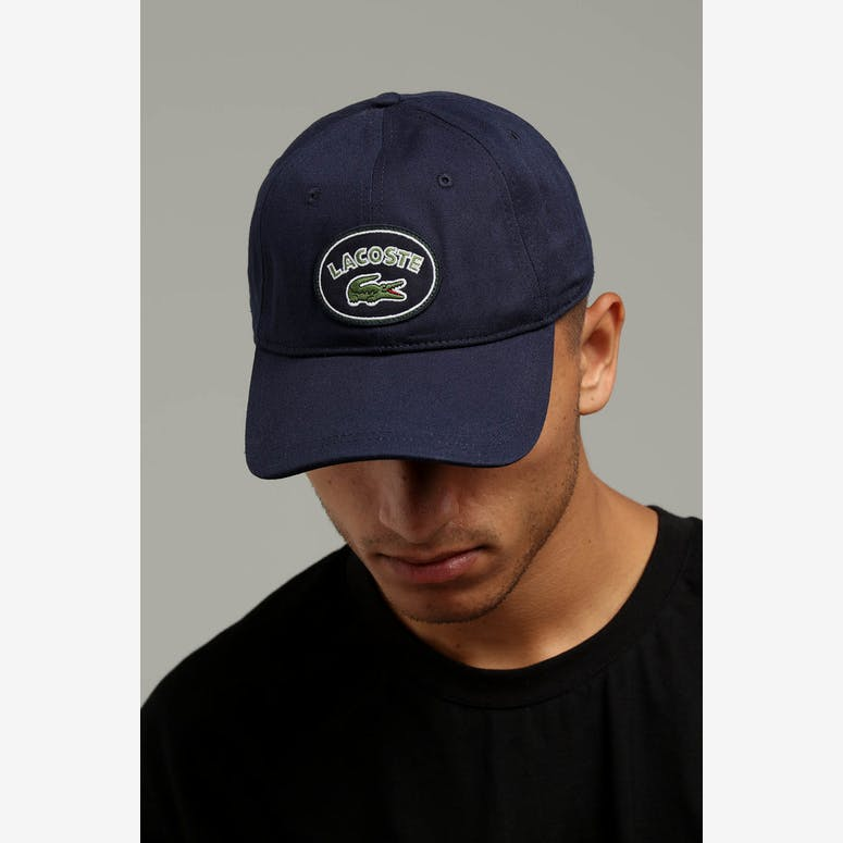 20a062db9b0 Lacoste Badge Logo Cap Navy Blue – Culture Kings