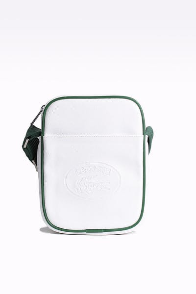 67220e2e4e2721 Lacoste 1933 Vertical Camera Bag White/Green ...