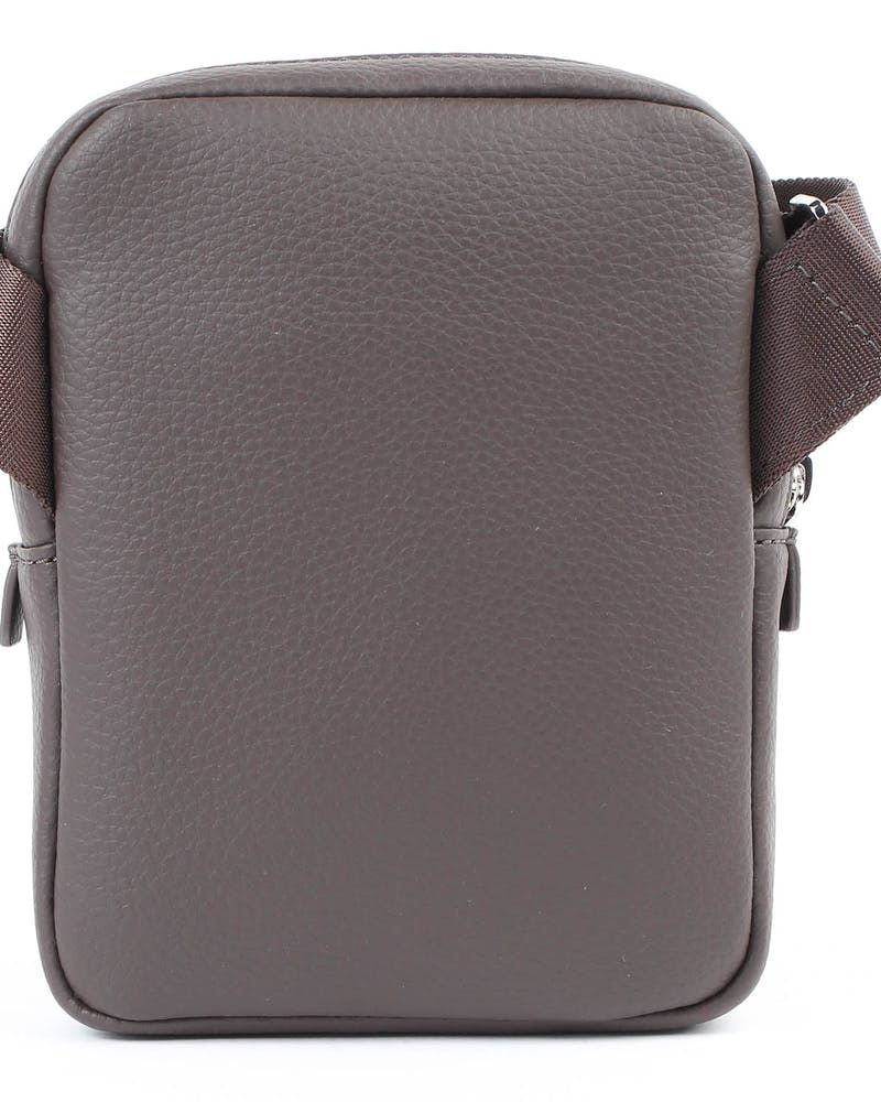 Lacoste Gael XS Flat Crossover bag Chocolate Brown