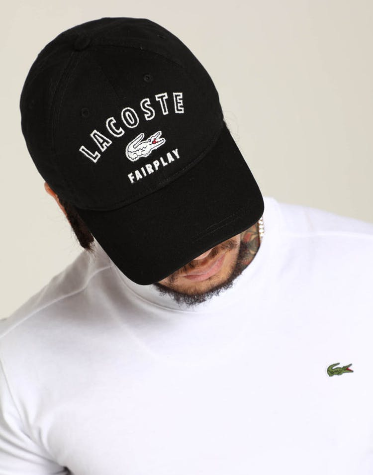 9b66d39aef8 Lacoste Fairplay Lacoste Cap Black – Culture Kings