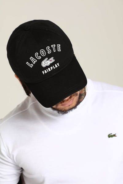 Lacoste Fairplay Lacoste Cap Black