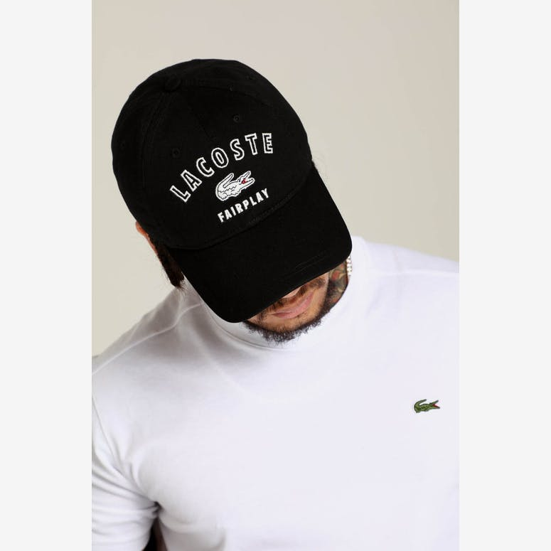 Lacoste Fairplay Lacoste Cap Black – Culture Kings 8afb55c0b98b