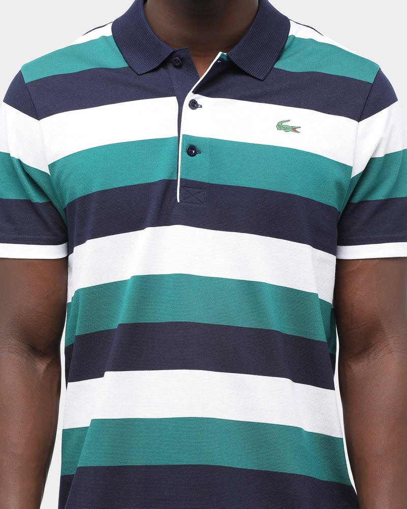 Lacoste Men's Tennis Striped Super Light Polo Navy/Blue