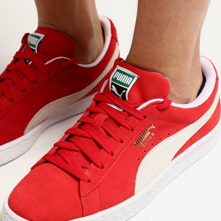 dfd0403b212 Puma Suede Classics+ High Risk Red White – Culture Kings
