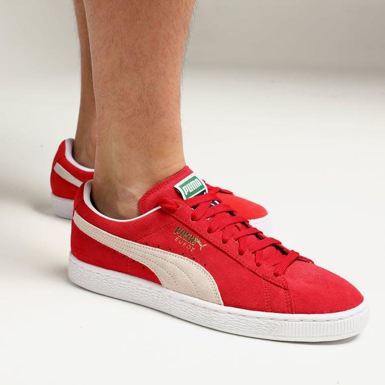 Puma Suede Classics+ High Risk Red White – Culture Kings 0aef08184