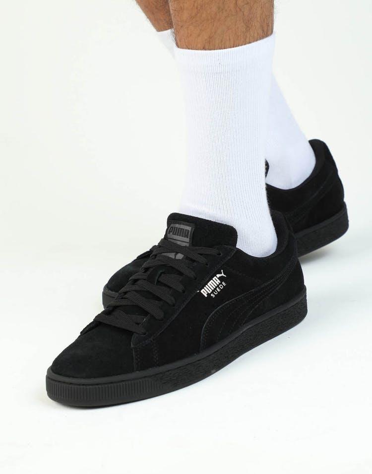 plus récent 92a57 dafa0 PUMA Suede Classic + Black/Black