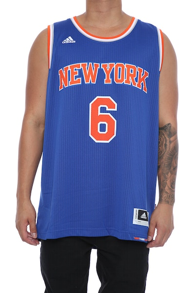 Adidas Performance New York Knicks Kristaps Porziņģis '6' Swingman Jersey Blue