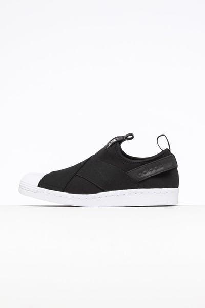 c9326ad39133 Adidas Women s Superstar Slip On Black Black White