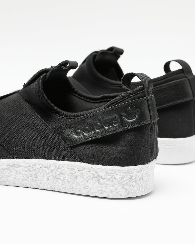 Adidas Women's Superstar Slip On Black/White