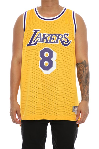 Adidas Hardwood Classics Retired Jersey Los Angeles Lakers Kobe Bryant '8' Yellow