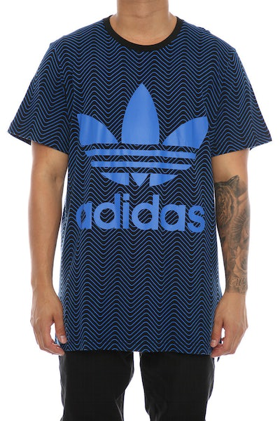 Adidas Originals Herringbone AOP Tee Black/Blue