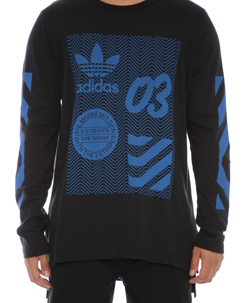 Adidas Originals NYC Long Sleeve Tee Black/Blue