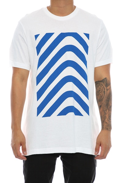 Adidas Originals Herringbone Block Tee White/Blue