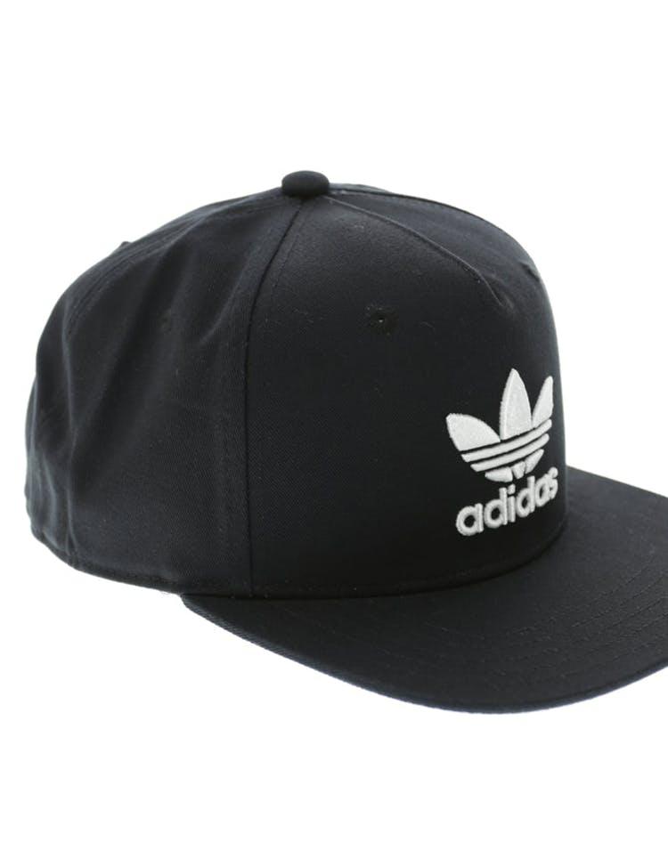 38a52da0831 Adidas AC Trefoil Flat Peak Snapback Black white – Culture Kings