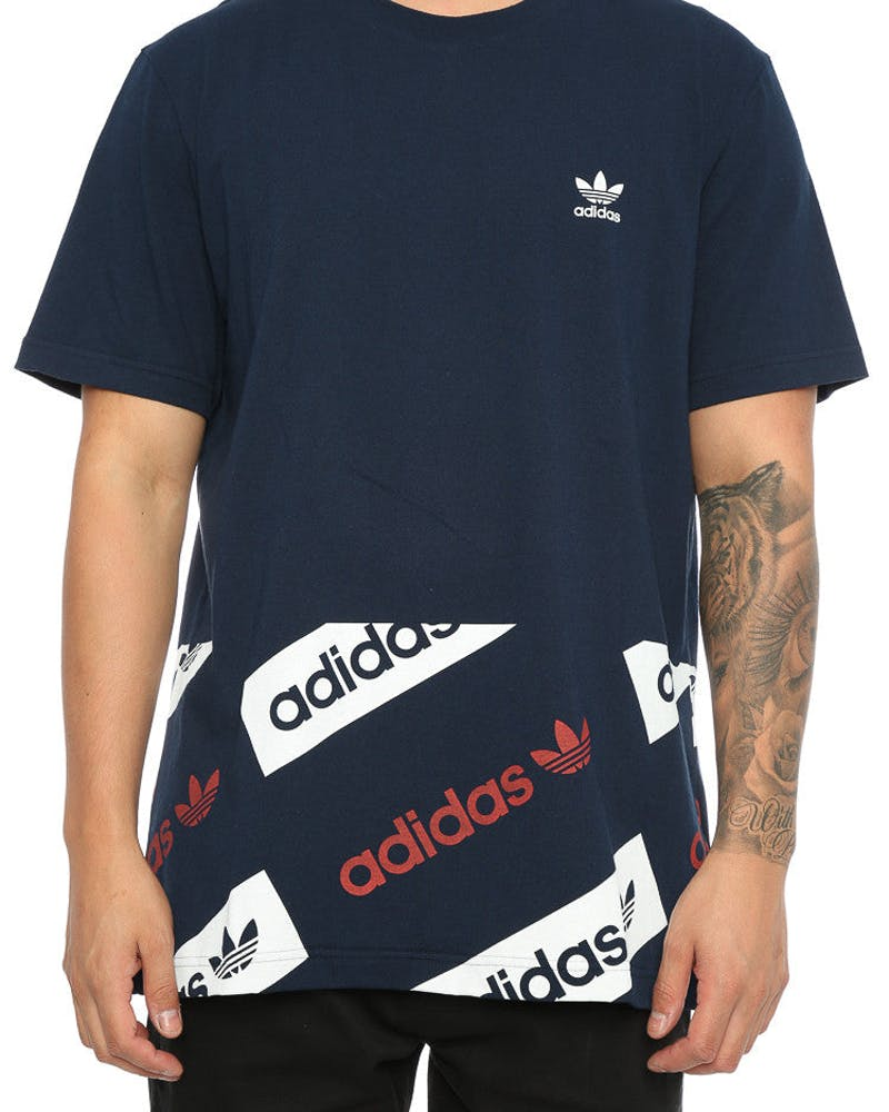 Adidas Originals London Logo Tee Navy