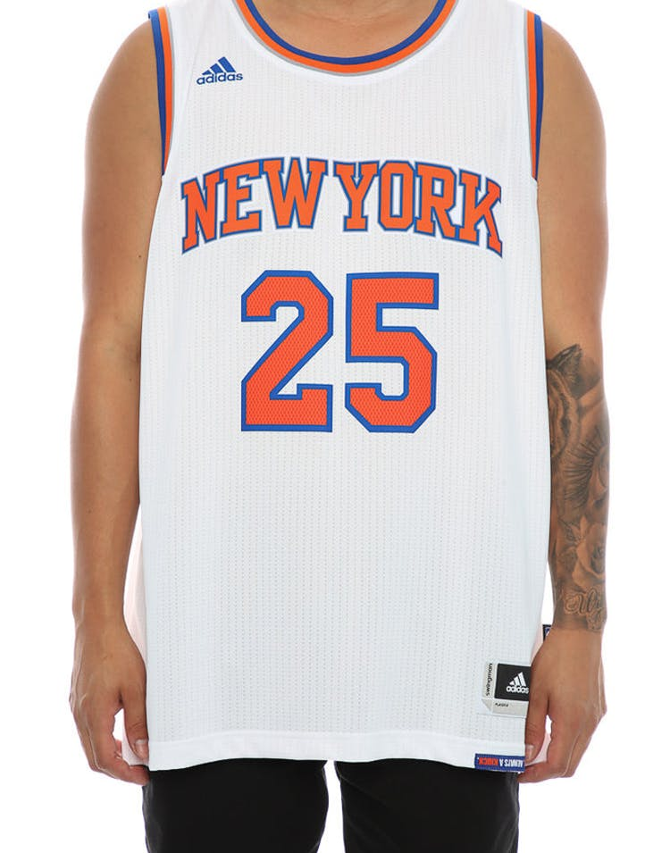 the best attitude d1846 88f1f Adidas Performance New York Knicks Derrick Rose Swingman Jersey White