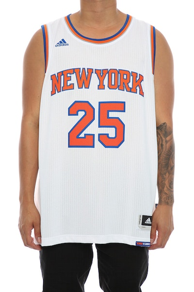 Adidas Performance New York Knicks Derrick Rose Swingman Jersey White