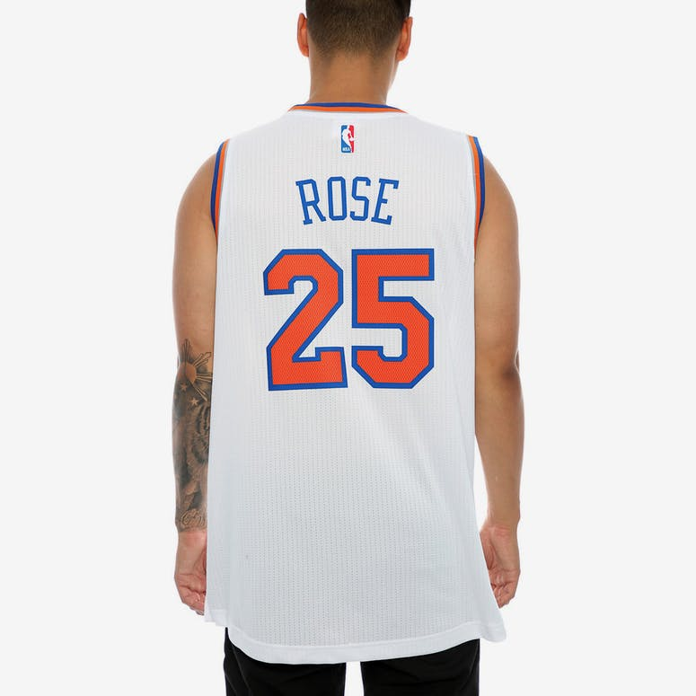 Adidas Performance New York Knicks Derrick Rose Swingman Jersey White bfd06dfb9