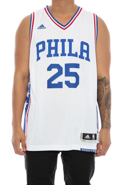 Adidas Performance Philadelphia 76ers Ben Simmons Swingman Jersey White