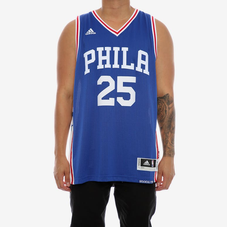 Adidas Performance Philadelphia 76ers Ben Simmons Swingman Jersey Roya –  Culture Kings efc666e6b
