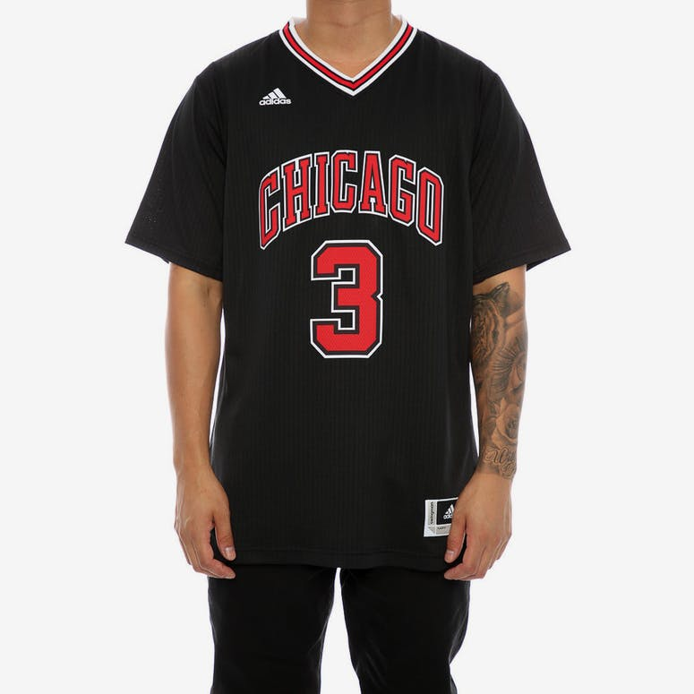 Adidas Performance Chicago Bulls Dwyane Wade  3  Short Sleeve Swingman –  Culture Kings e89940b272