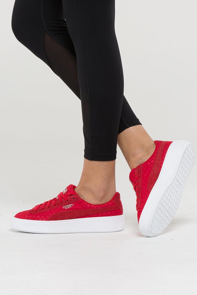 puma platform red