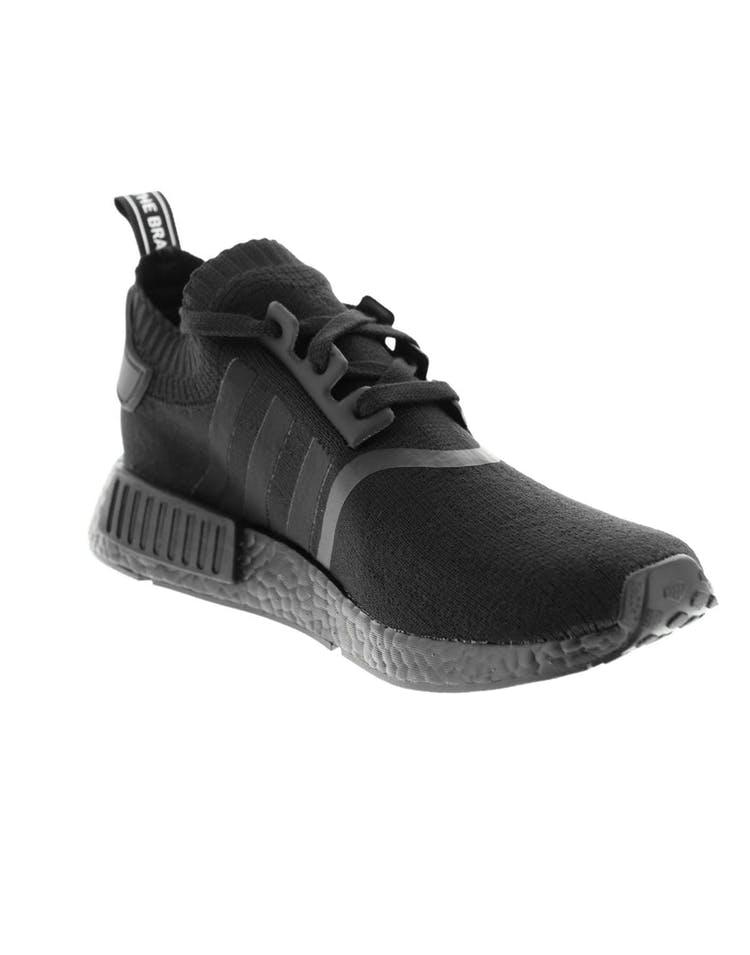 promo code de9a9 801f4 Adidas Originals NMD R1 Primeknit Black/Black
