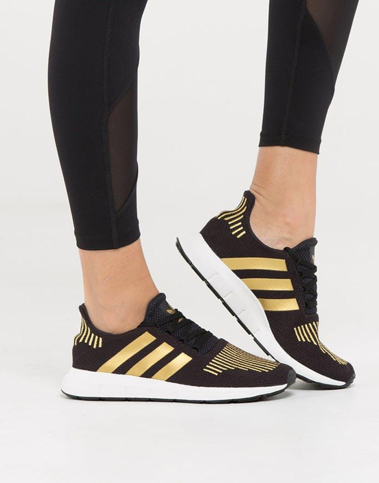 f49ae214ee82a Adidas Originals Women s Swift Run Black Gold White