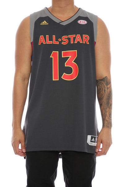 Adidas Performance NBA All-Star Western Conference James Harden '13' Swingman Jersey Black/Red