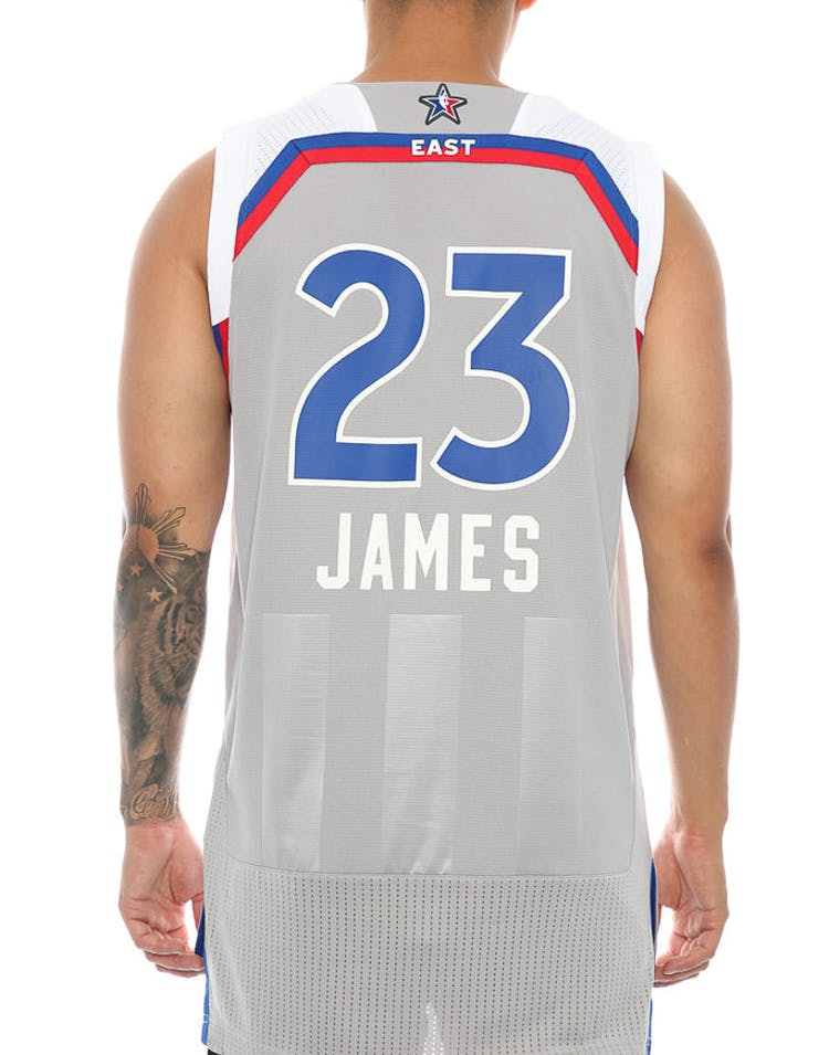 7967df0f3 Adidas Performance NBA All-Star Eastern Conference LeBron James  23   Swingman Jersey Grey