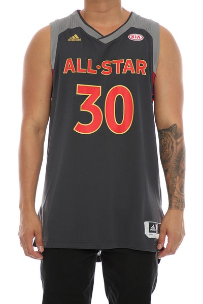 Adidas Performance NBA All-Star Western Conference Stephen Curry '30' Swingman Jersey Black/Red